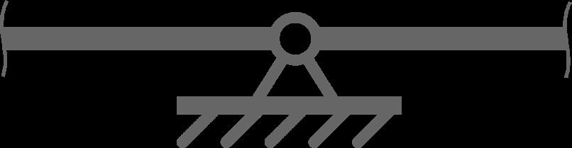 Две балки соединены шарнирной опорой