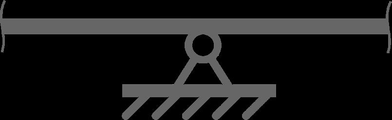Фрагмент балки с шарнирной опорой